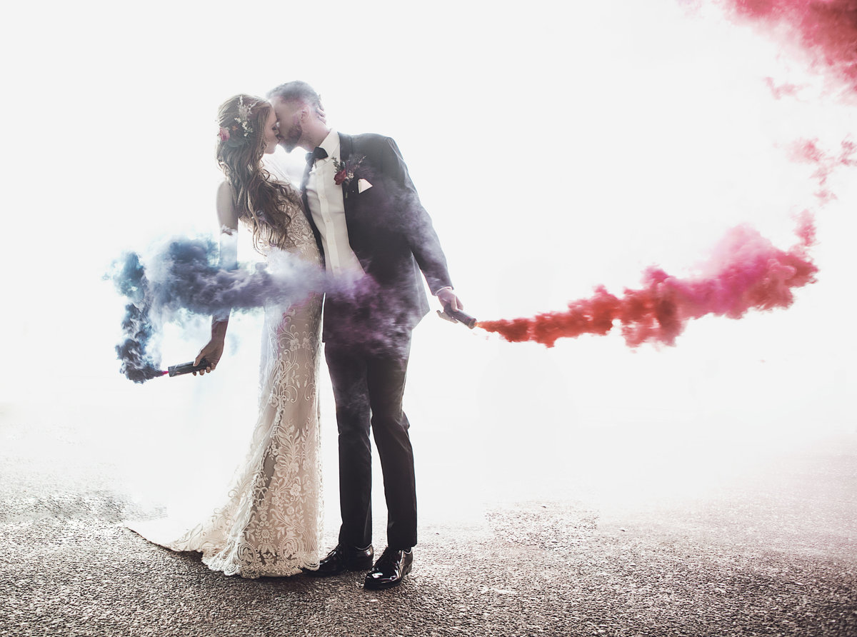 Wedding Smoke Bomb Exit - Verve Event Co (1)
