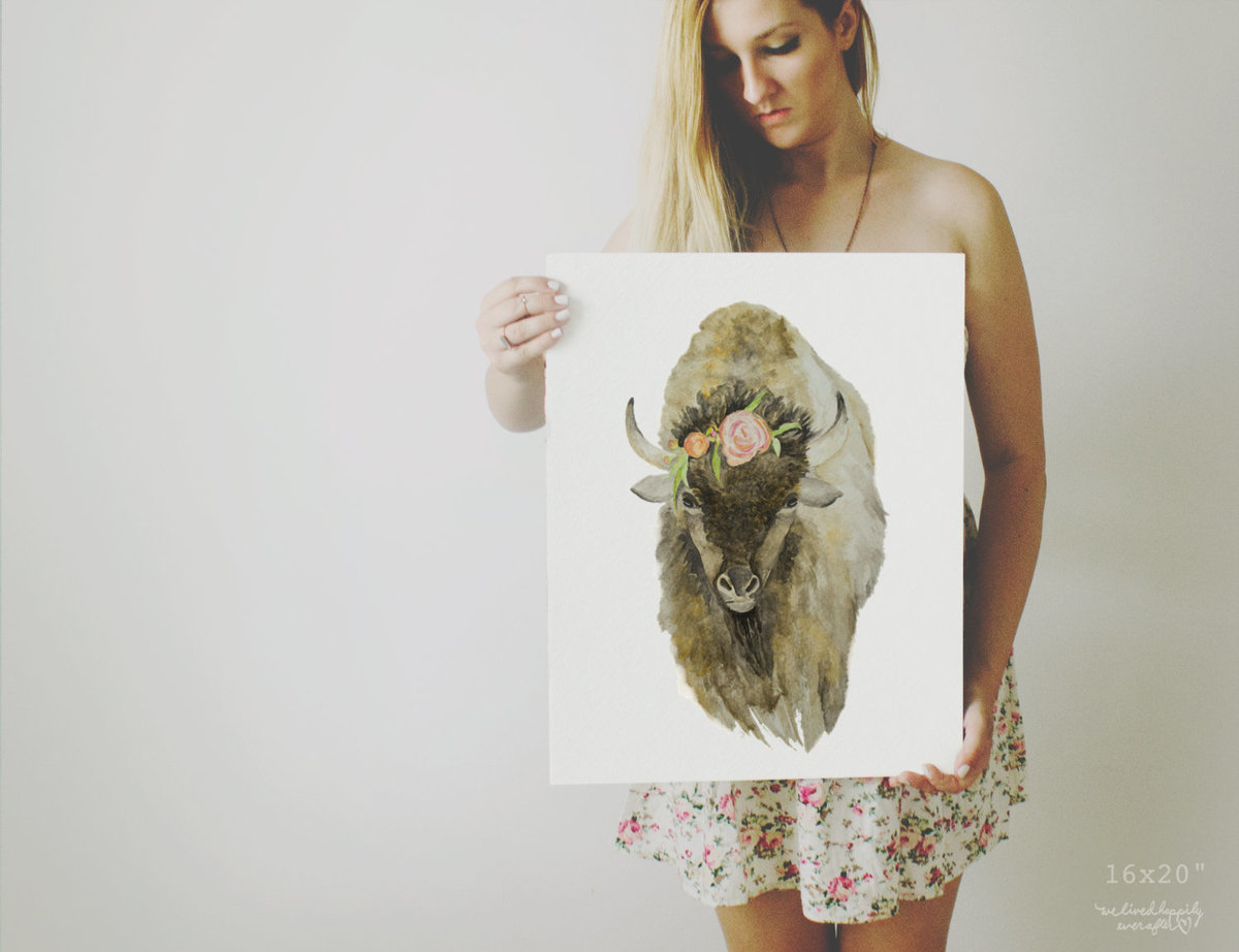 Buffalo_-_Bison_Animal_Print_-_Printable_Nursery_Decor_-_Nursery_Watercolor_-_Digital_Download_-_Pos-467775984-_3