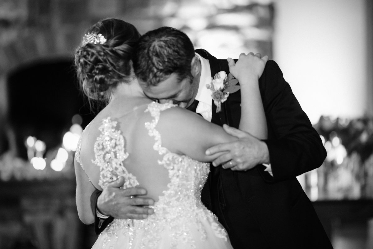 bride and father - historic acres of hershey wedding