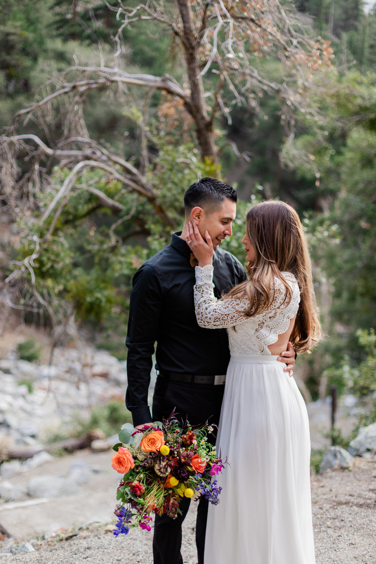 Mt. Baldy Elopement, Wildflower Bouquet, Mt. Baldy Styled Shoot, Mt. Baldy Wedding, Forest Elopement, Forest Wedding, Boho Wedding, Boho Elopement, Mt. Baldy Boho, Forest Boho, Woodland Boho S&W-10