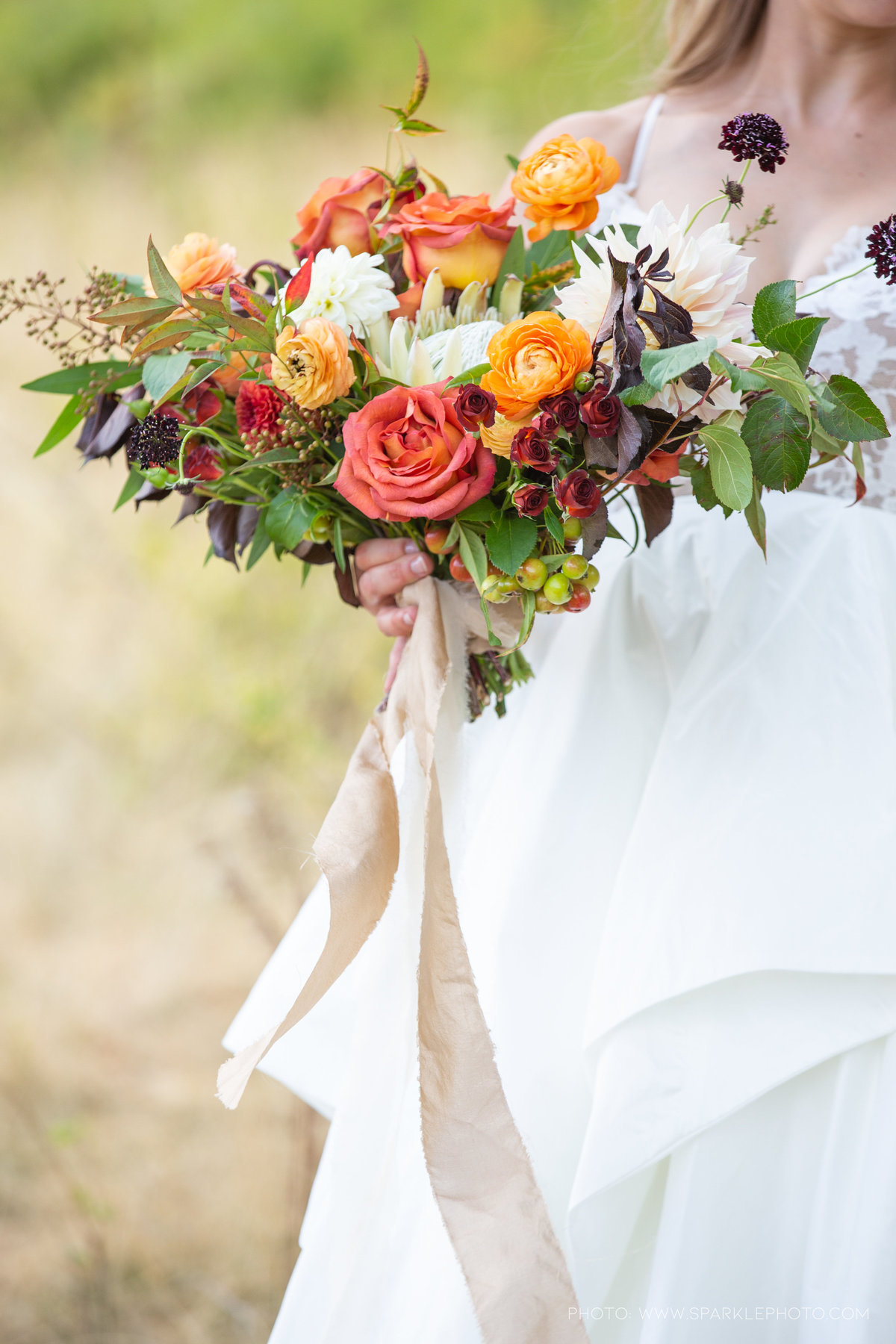 Utah Florist_Sundance_wedings_Orange Bouquet_Luxe Mountain_Weddings_Artisan Bloom--51