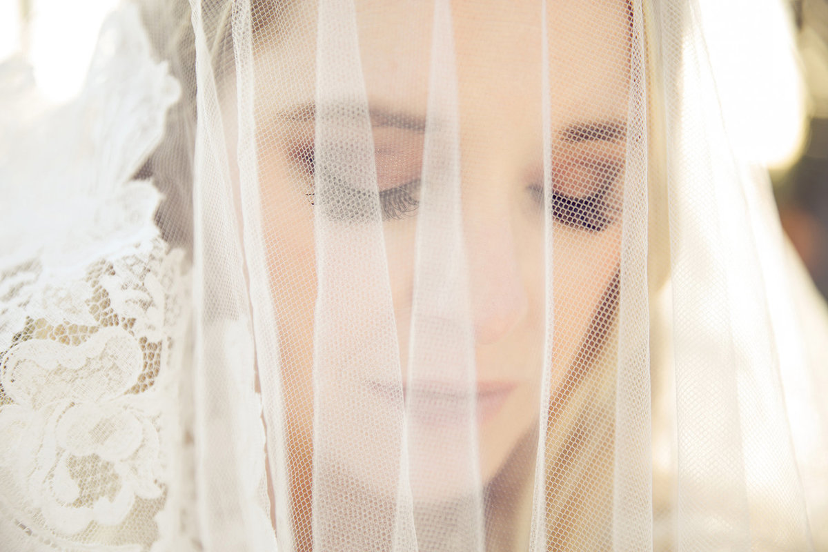 Paradise Point Resort wedding photos bride with veil
