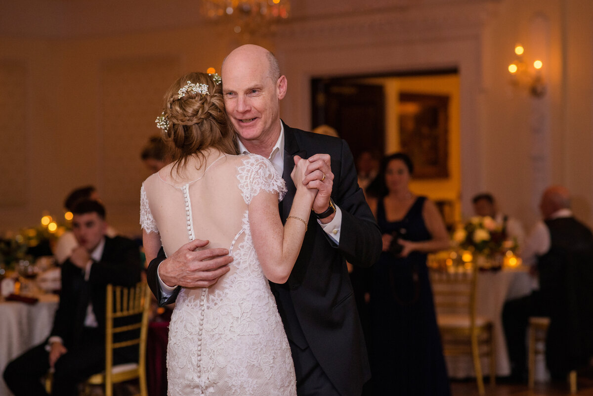 photo of bride dancing with dad from wedding at The Carltun