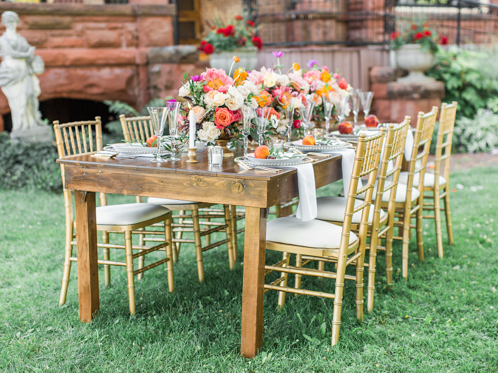 Whimsical Summer Wedding Styled Shoot at Henderson Castle Featured in WeddingDay Magazine Reception Table