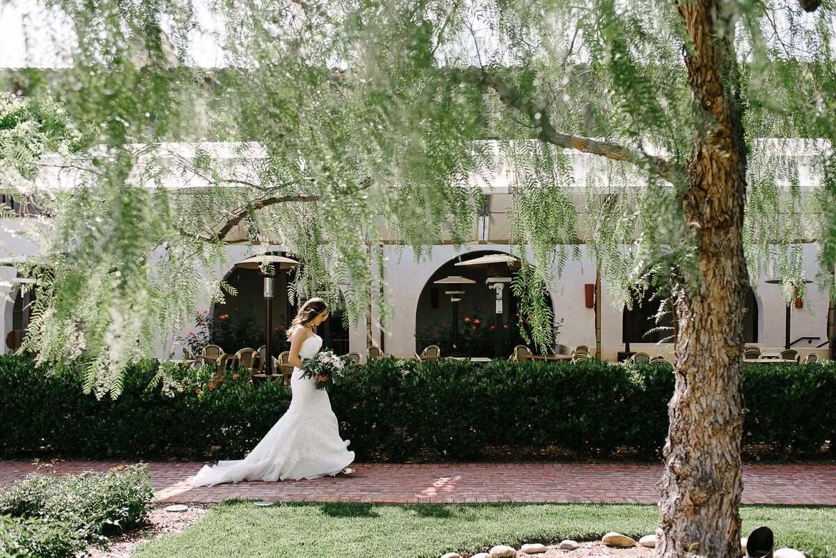 Ponte Winery Wedding Photographer  Bride Walking