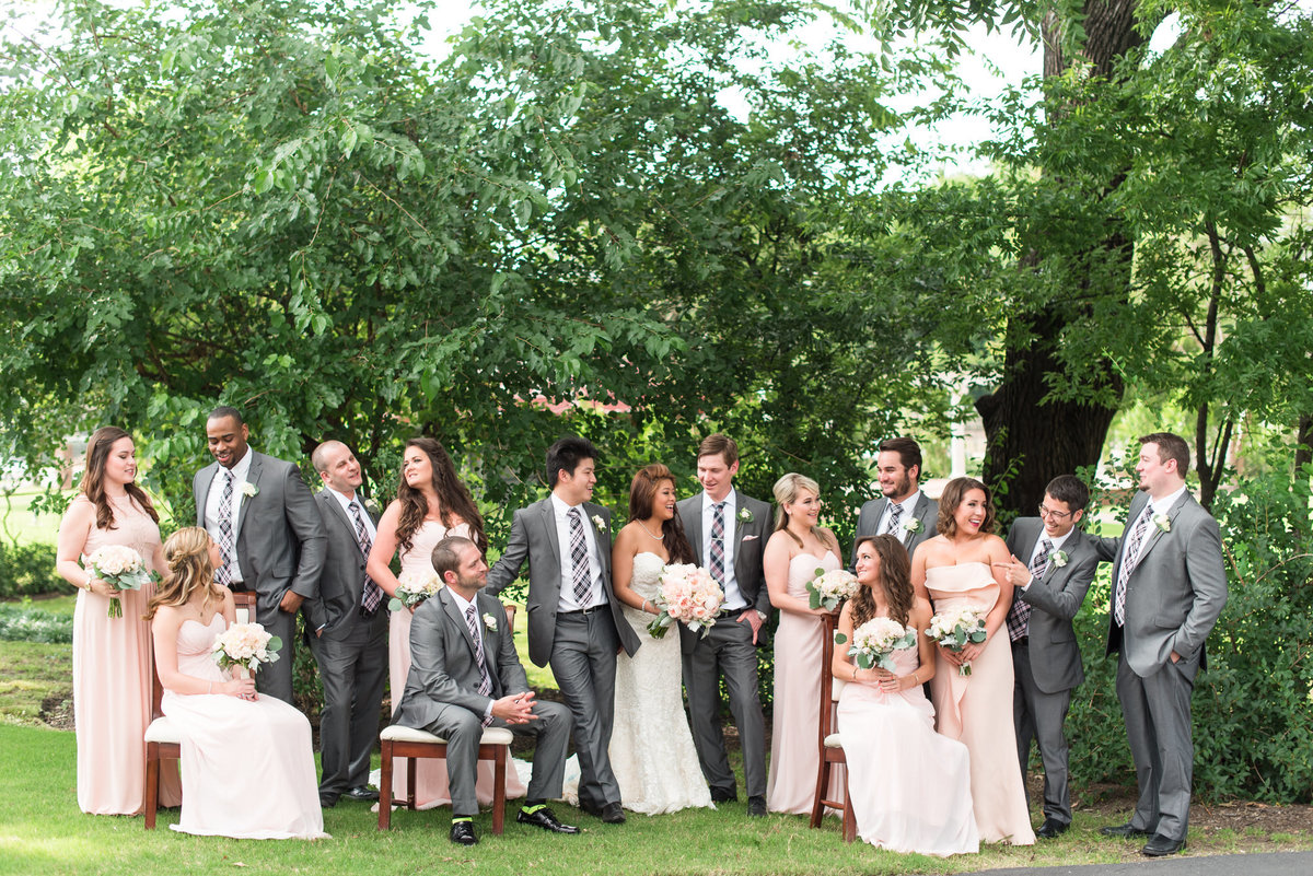 hunt phelan bridal party photo