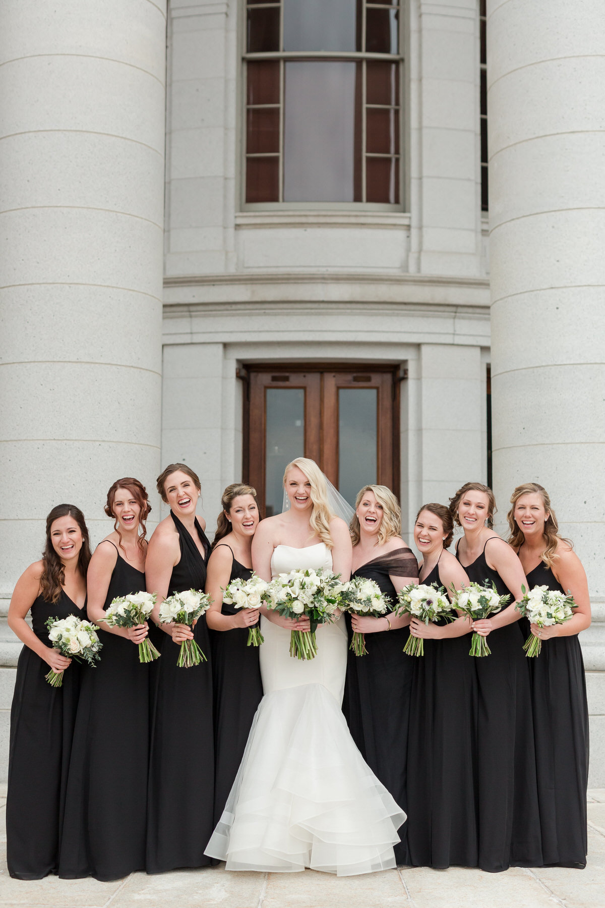bridesmaids, black bridesmaid dresses