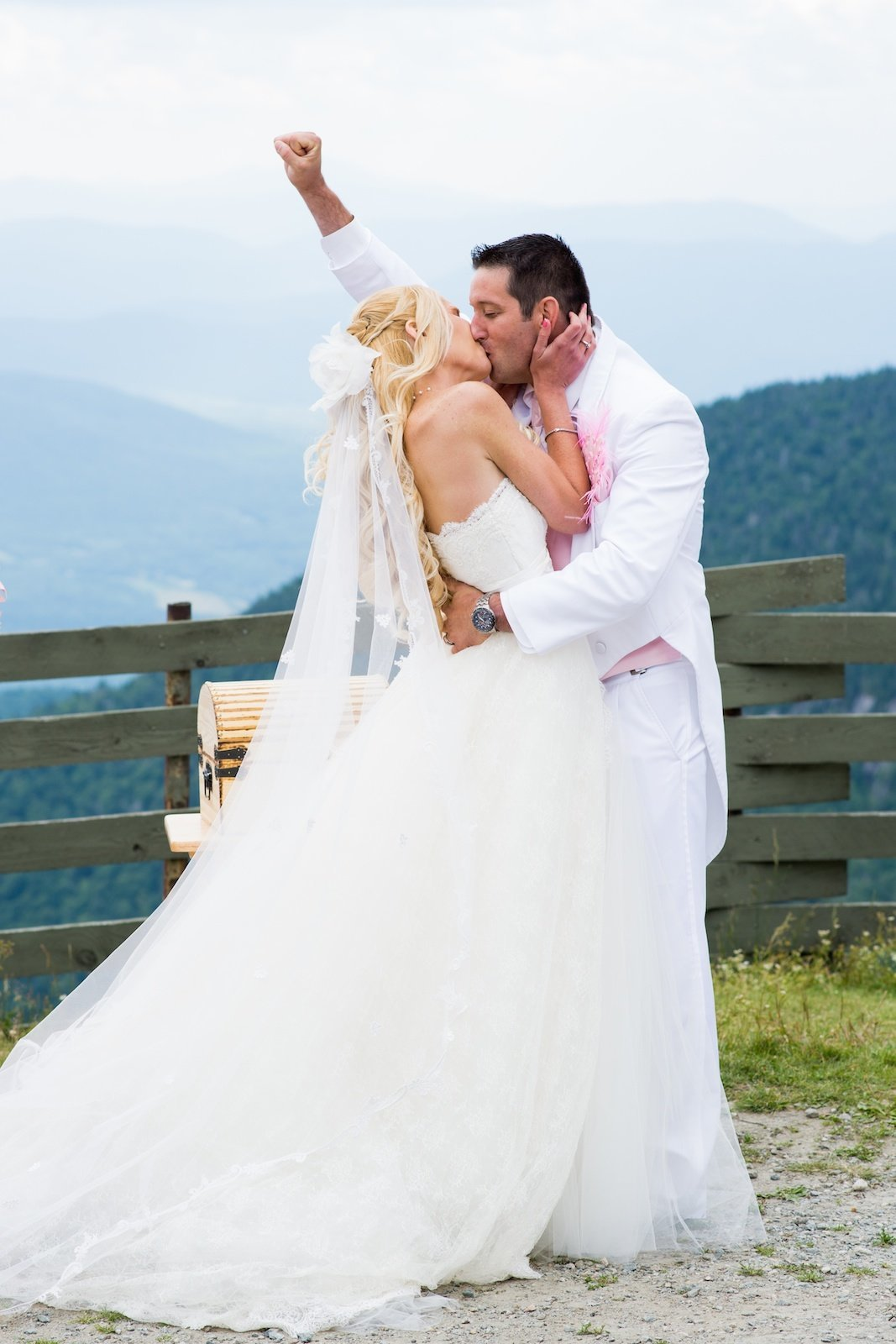 outdoor wedding ceremony at Jay Peak elevation