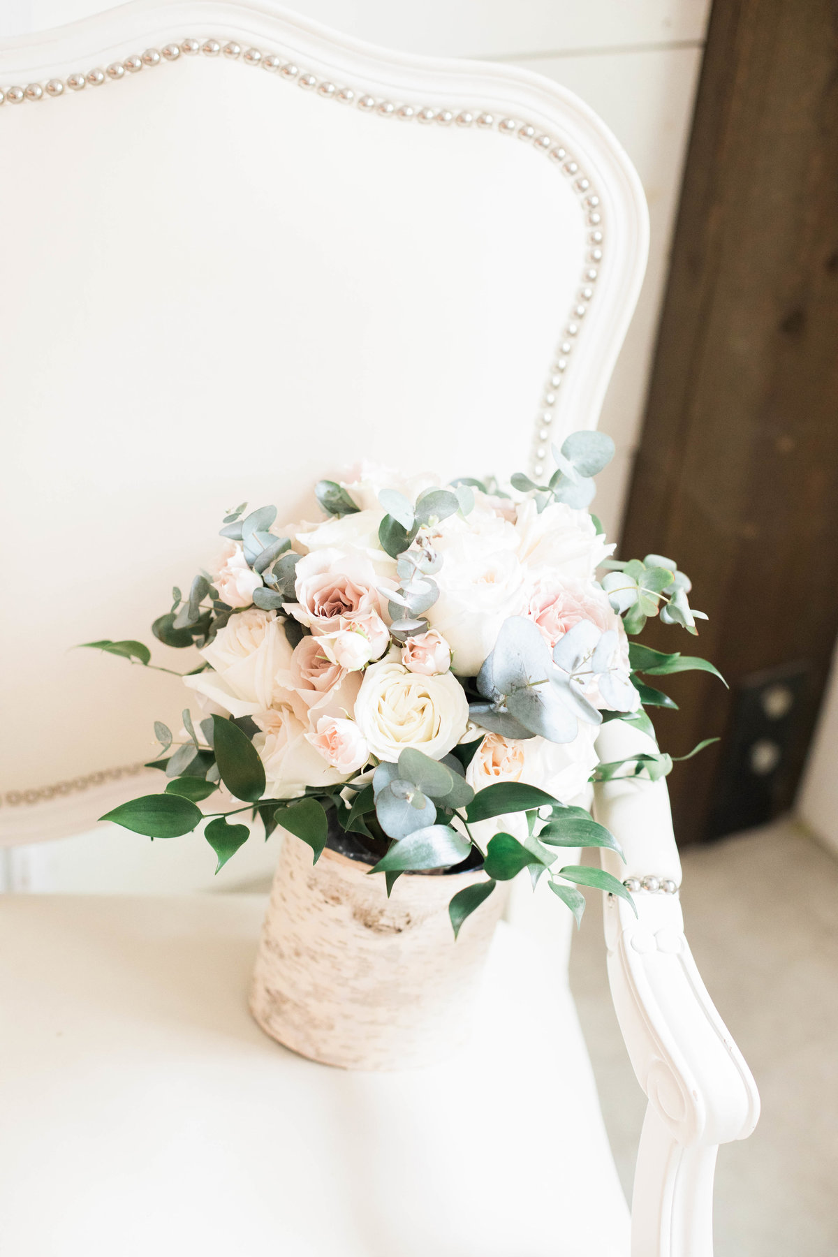 Rose Bridal Bouquet by St Augustine Wedding Photographer at Chandler Oaks Barn