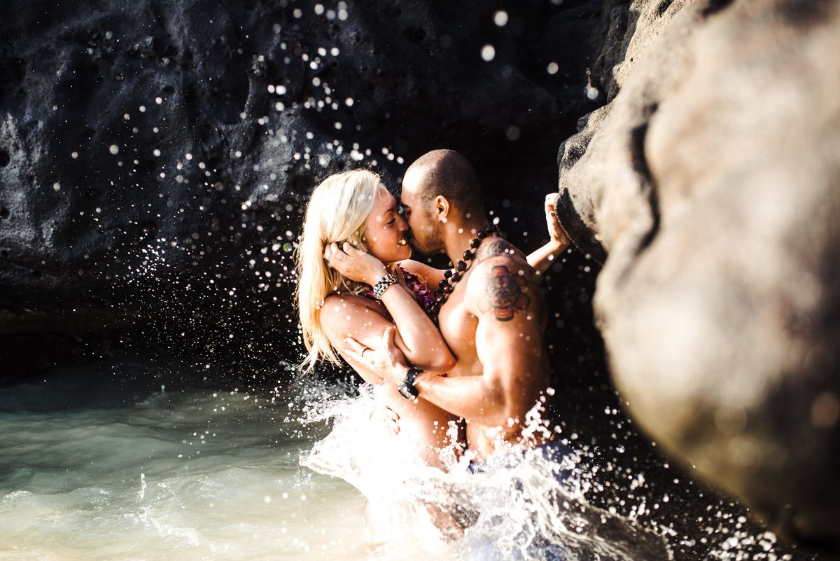 Eternity Beach Honolulu Hawaii Destination Engagement Session - 82