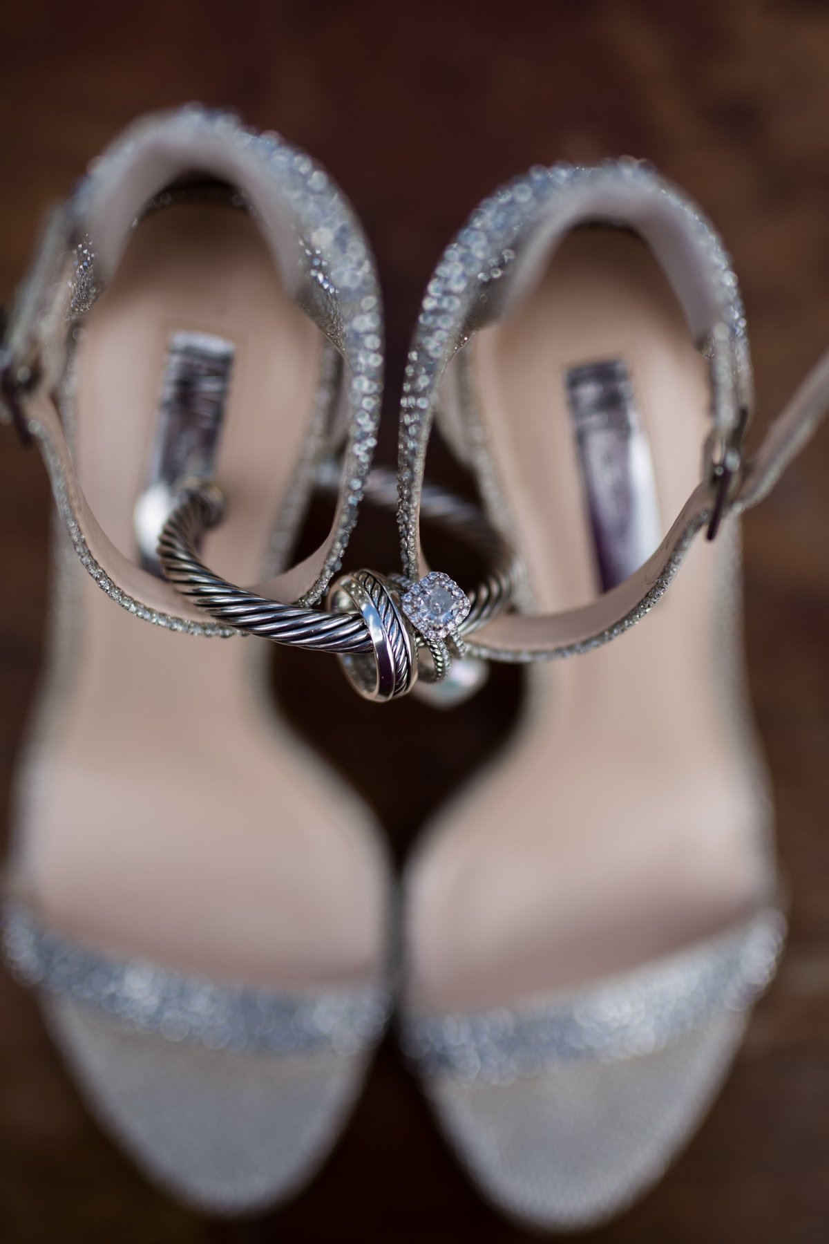 wedding ring and shoe photo