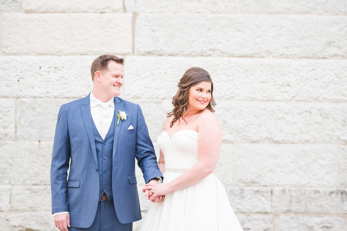 Newlywed Portraits Cait Potter Creative LLC Milltop Potters Bridge Noblesville Square Courthouse Wedding-26