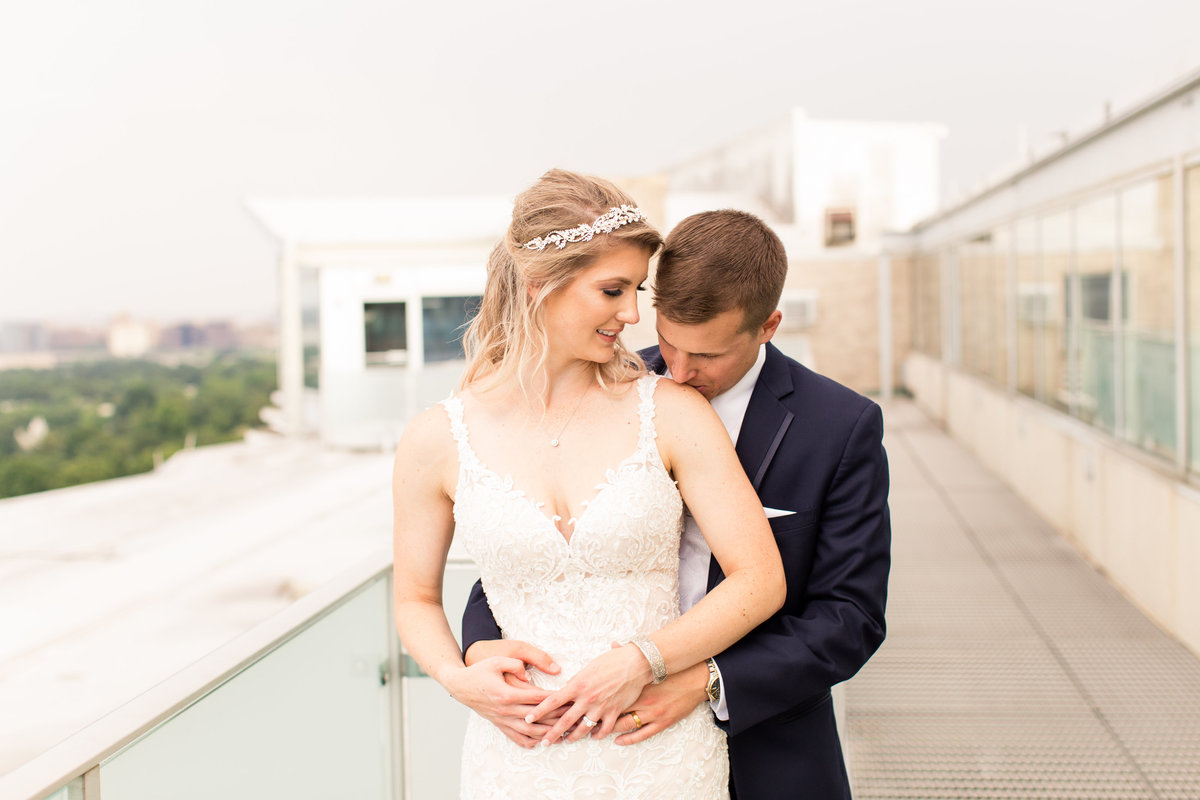 Arlington, VA wedding  by Marie Hamilton Photography