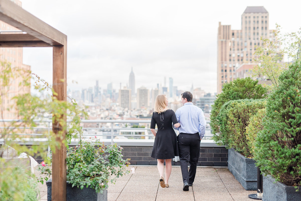 new-york-city-rooftop-skyline-engagement-photo