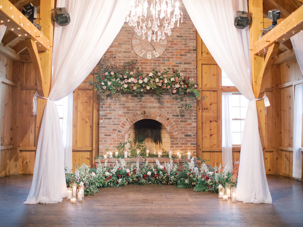 fall farm wedding ceremony delaware florist