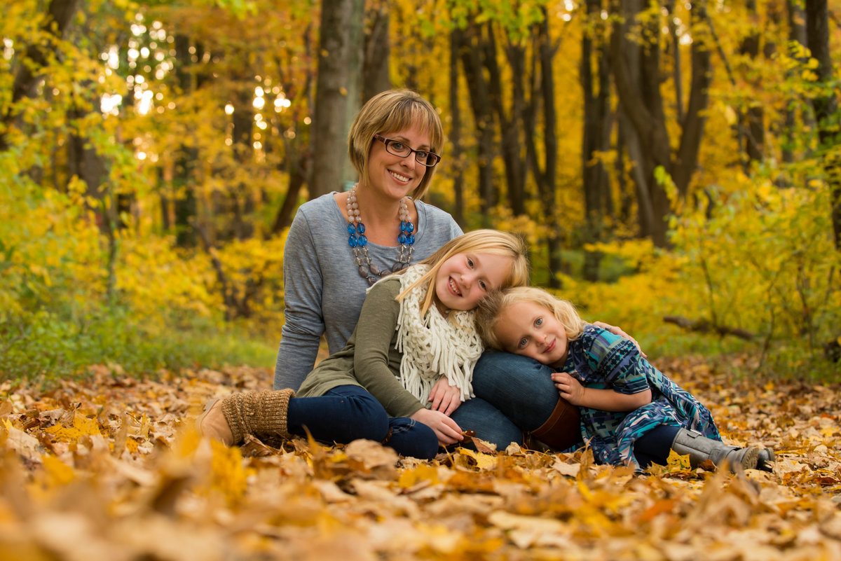 Outside during the fall is perfect for a family photo shoot
