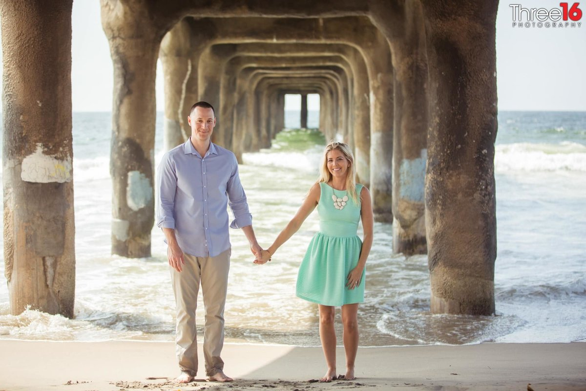 Manhattan Beach Pier Engagement Photos