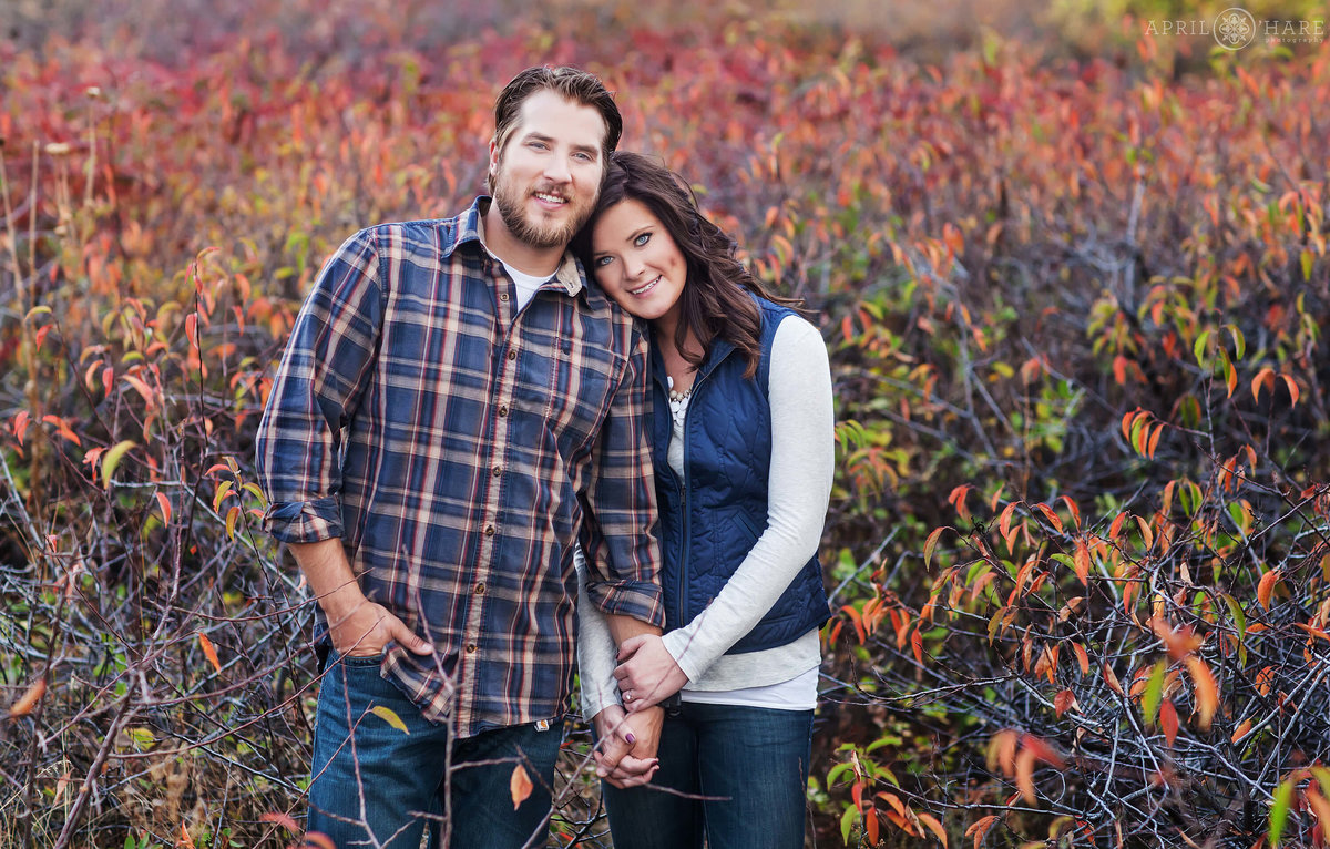 Pretty Fall Color Boulder Colorado Engagement Photography