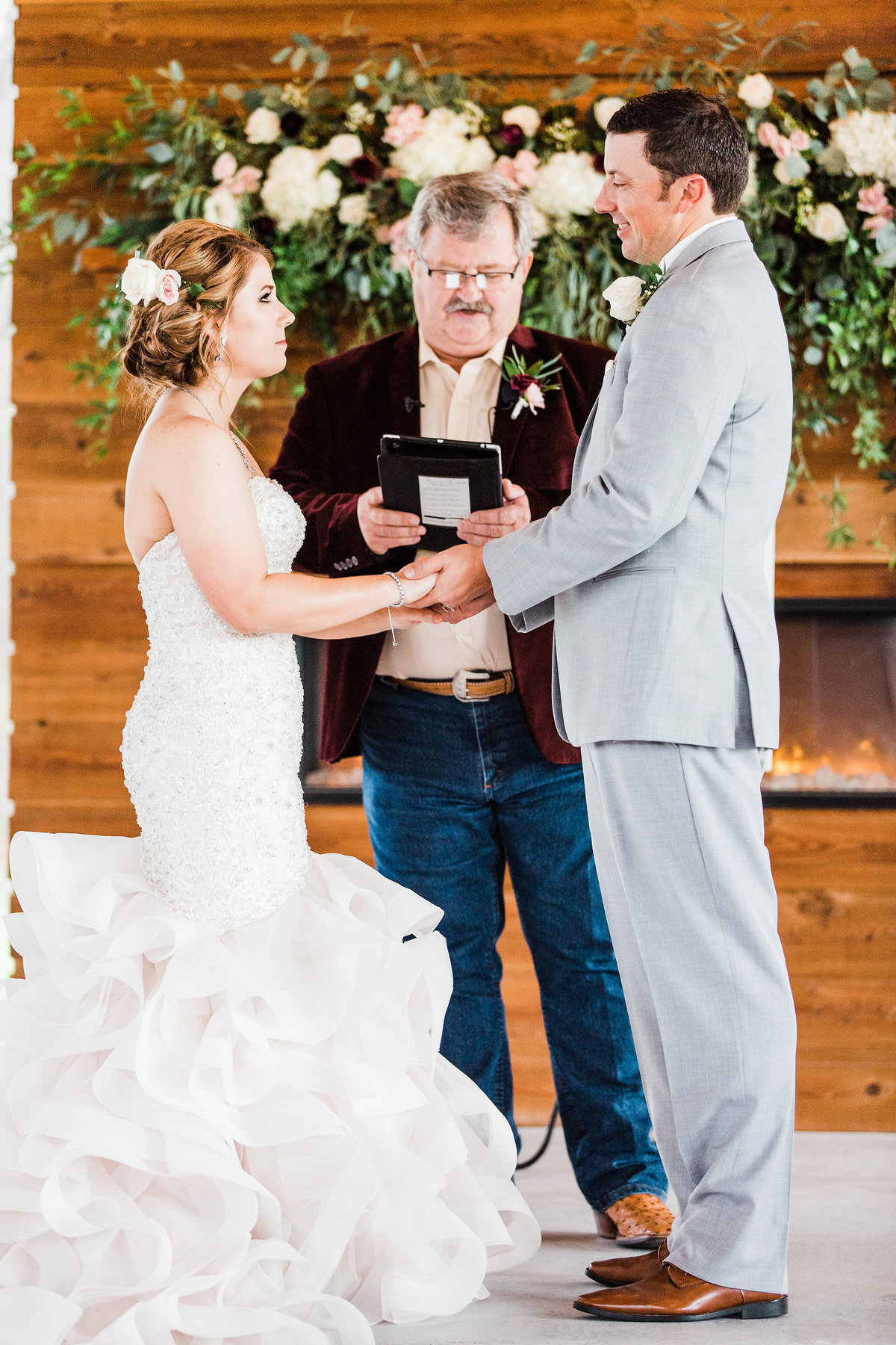 The Milestone Morgan Creek Barn Walters Estates Wedding Ceremony