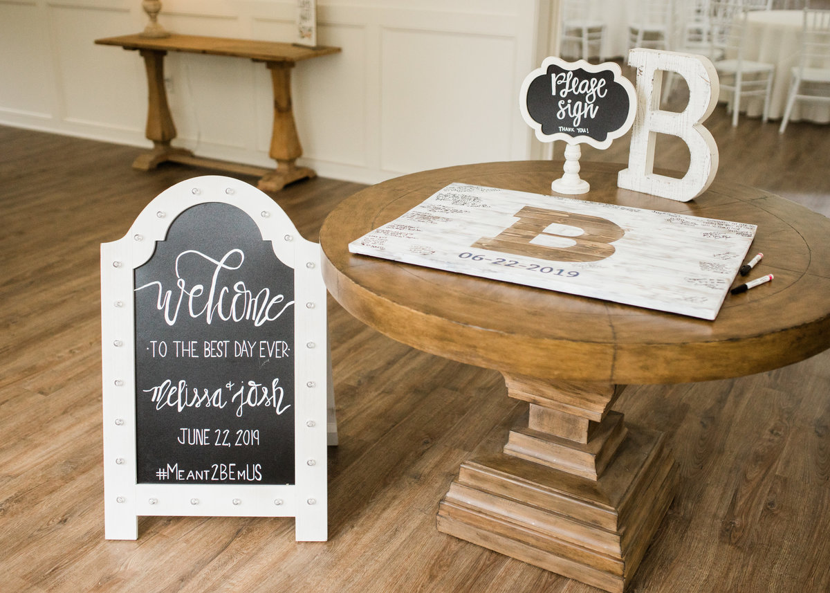 Little Rock wedding sign and guest book / Katie Childs Photo
