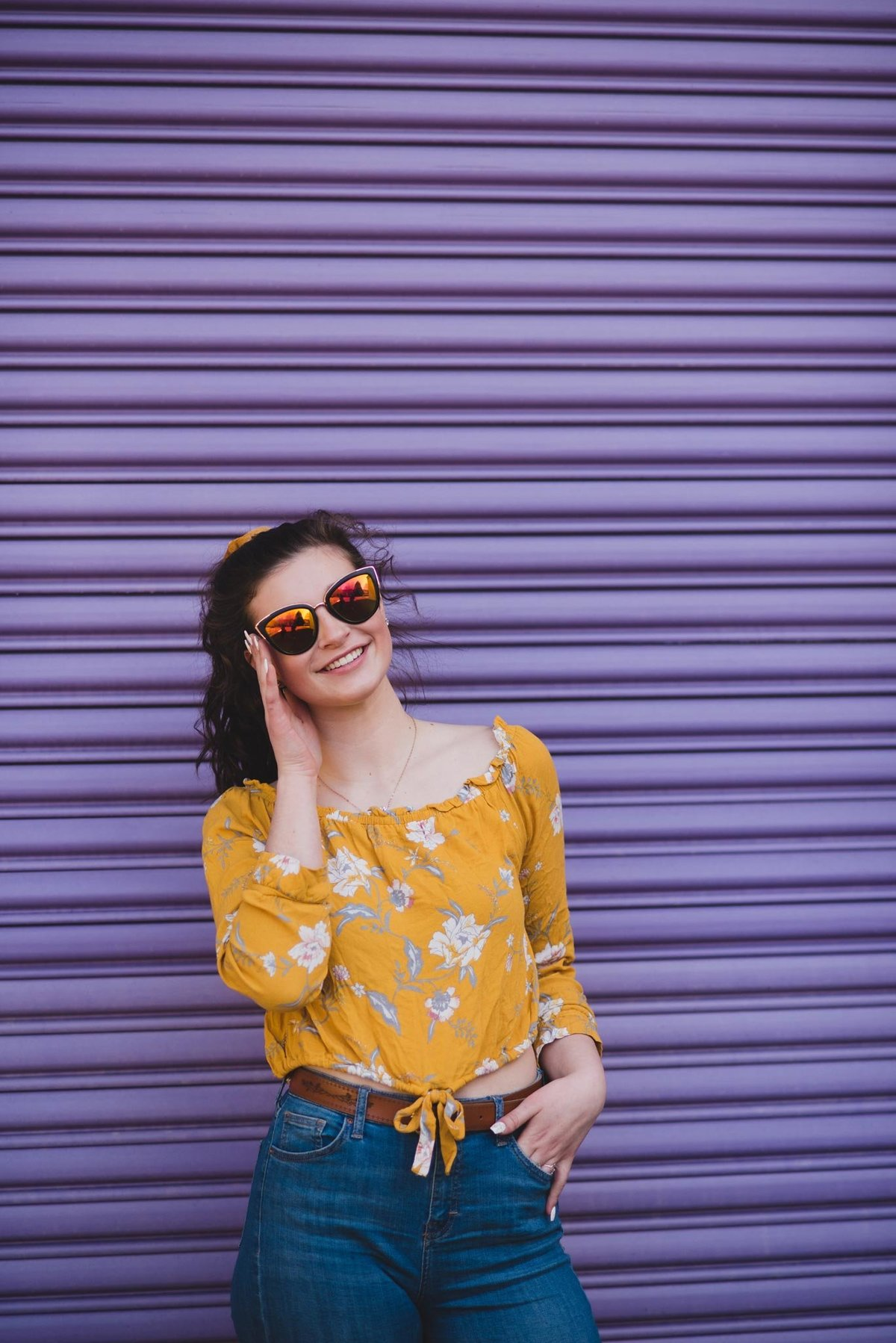 Tukwila-Senior-portraits-purple-wall-AmandaHowse-1-sunglasses