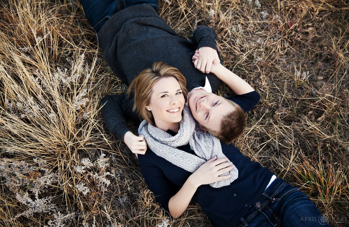 Pretty Winter Engagement Photography at Chautauqua Park in Boulder Colorado