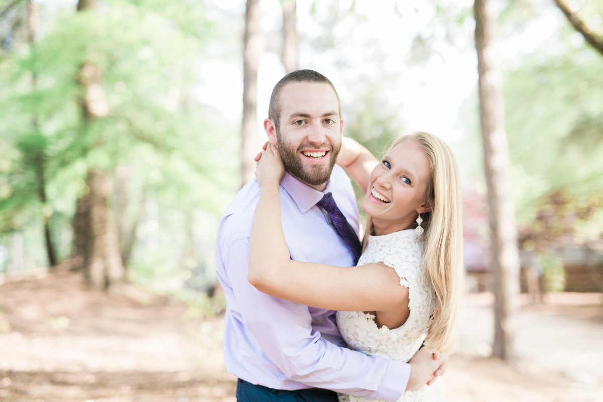Yates Mill engagement portraits