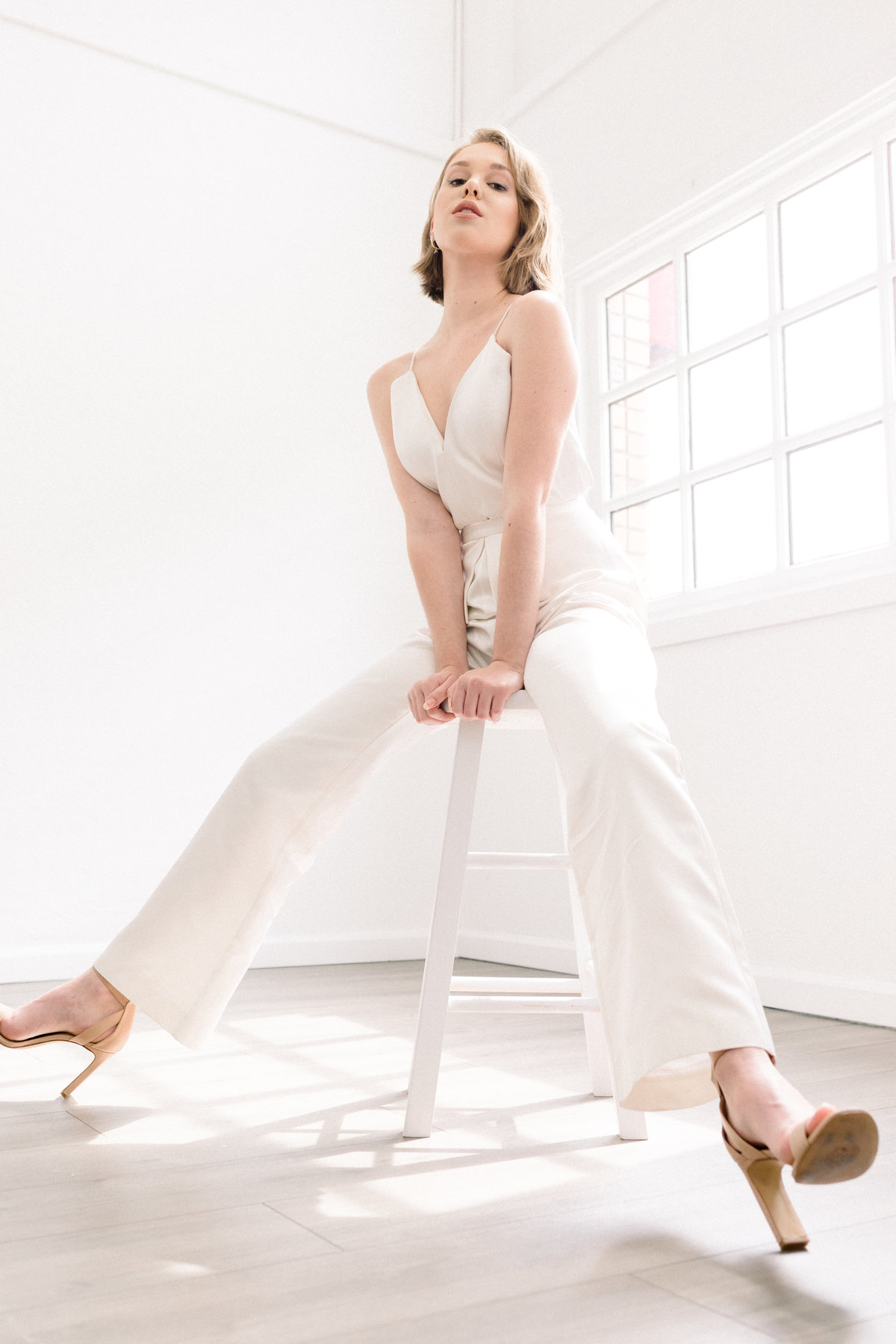 White Jumpsuit for brides