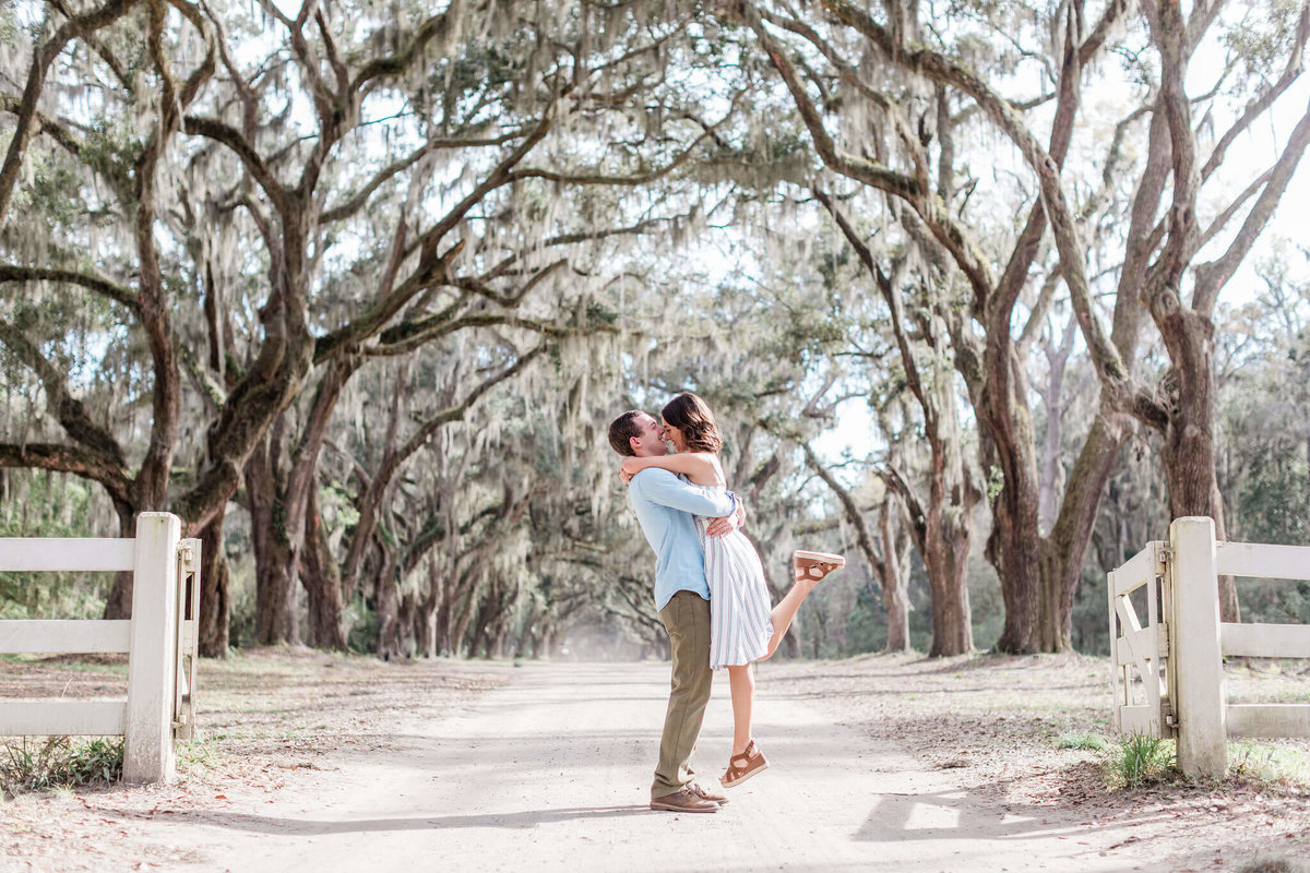 Engagement Pictures at Wormsloe by Apt. B Photography