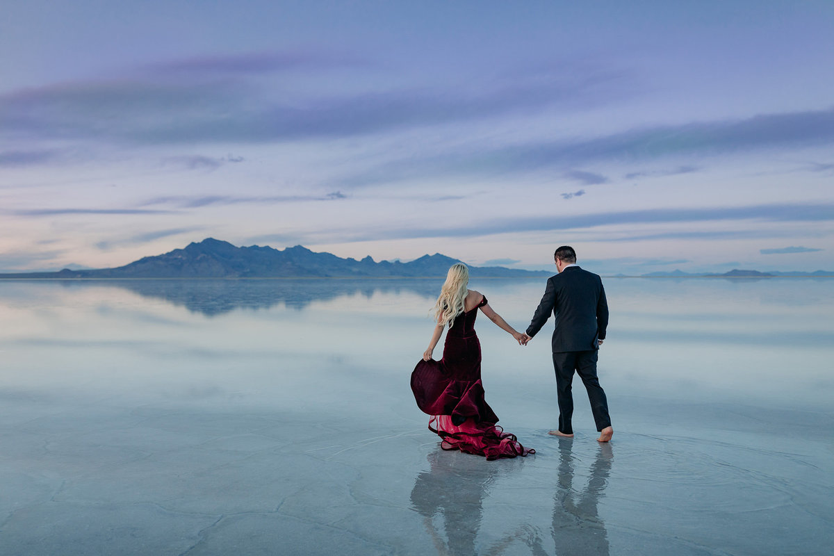 bonneville salt flats utah elopement wedding photographers