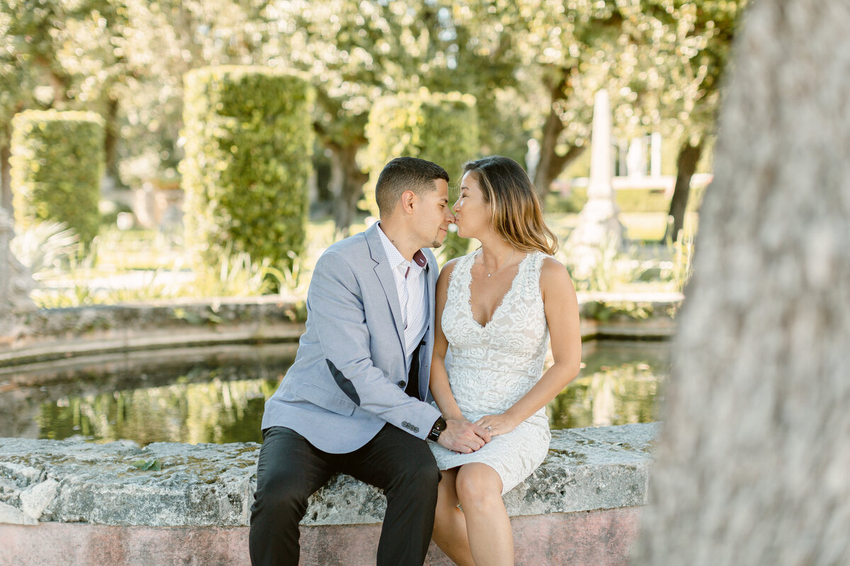 Vizcaya Museum Engagement Photography Session 11