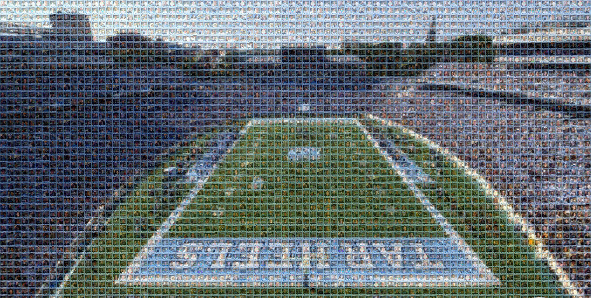 digital mosaic of all photos from your virtual photo booth