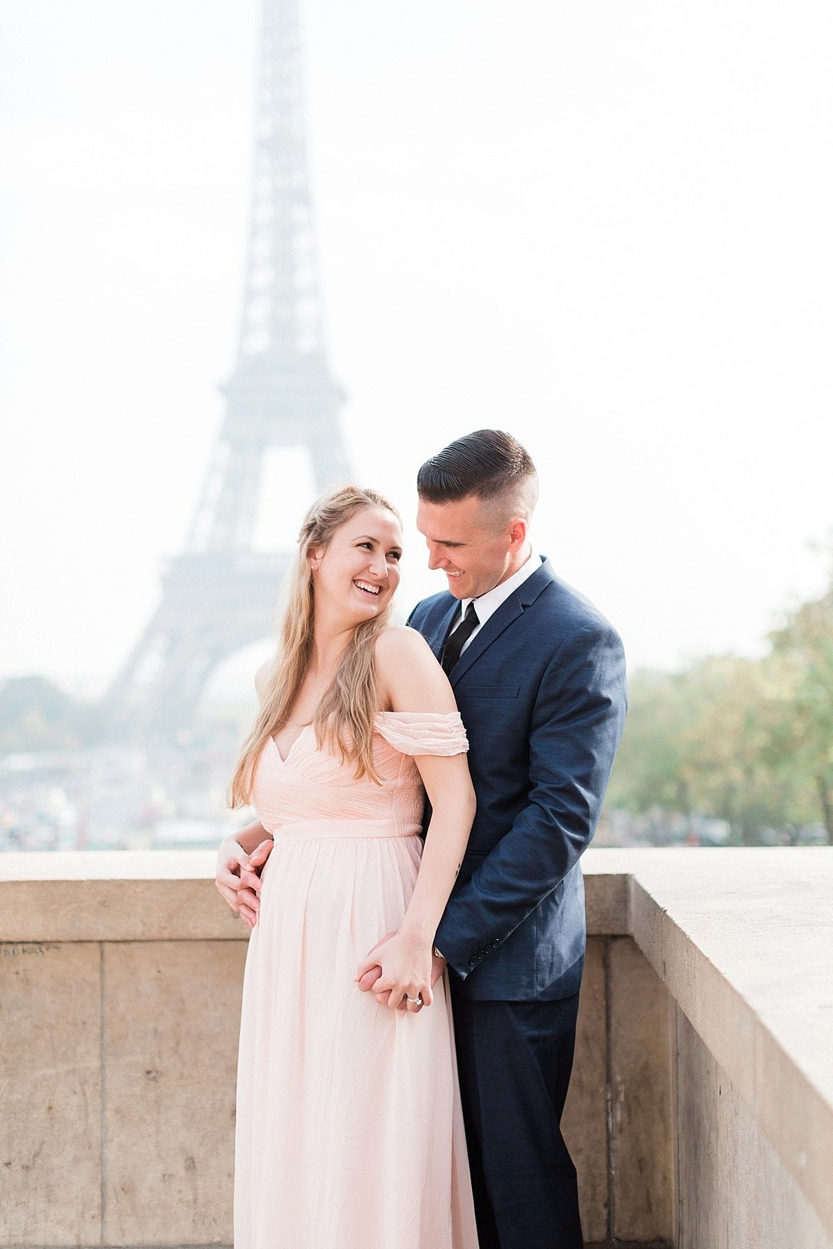 Paris, France anniversary session photographed at the Eiffel Tower by France Destination Wedding Photographer, Alicia Yarrish Photography