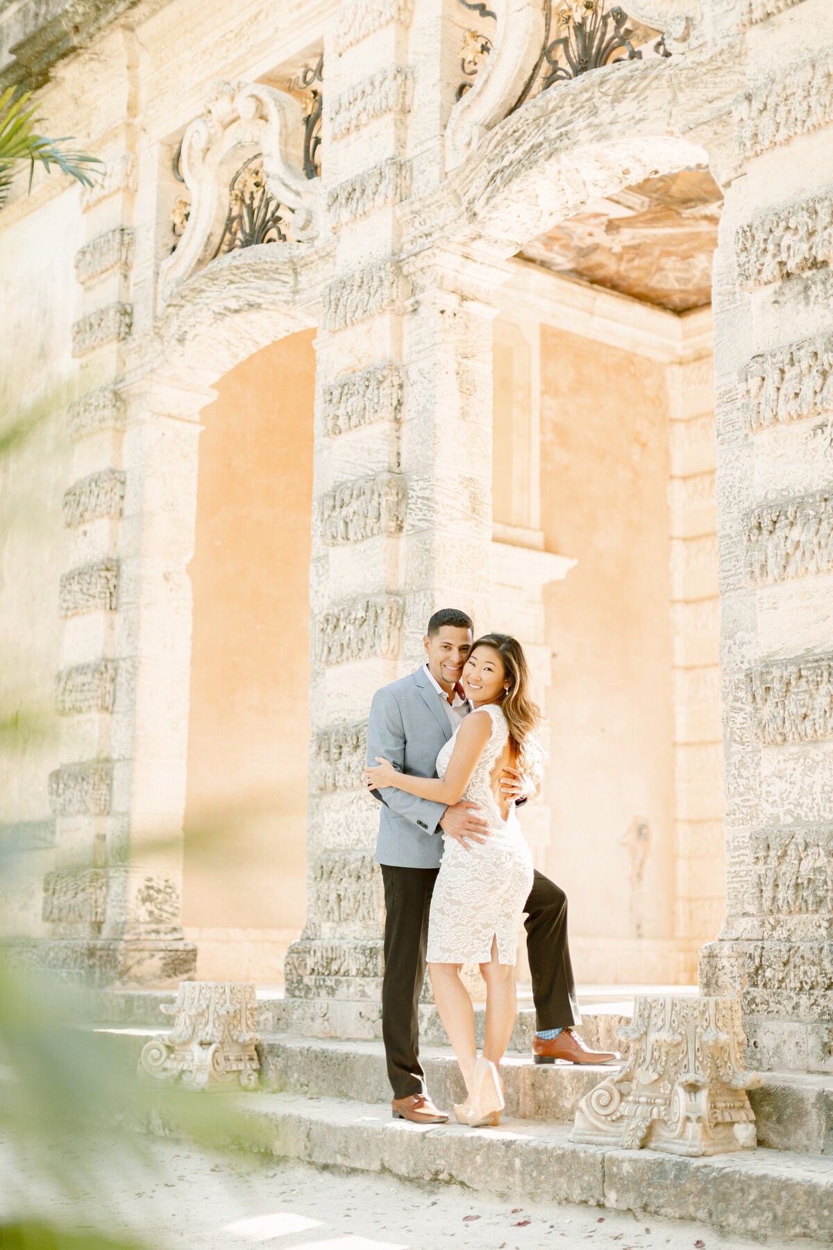 Vizcaya Museum Engagement Photography Session 20