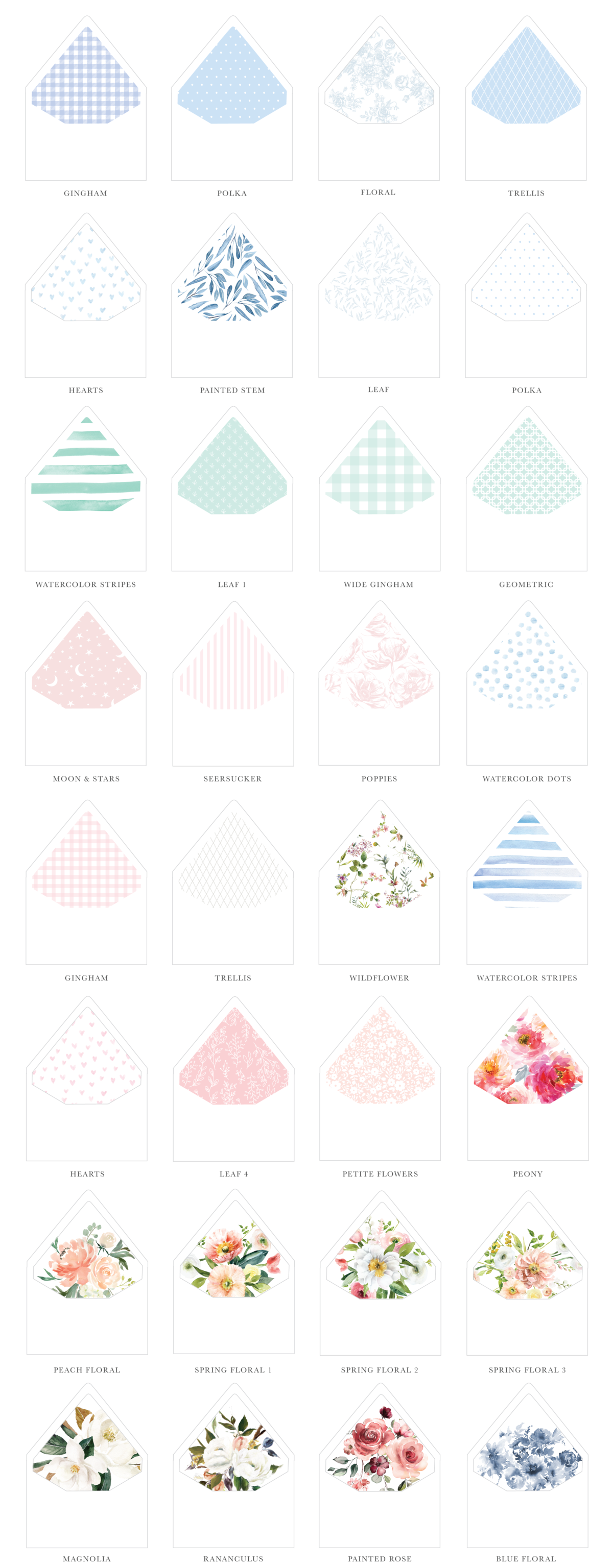 Sweetly Said Birth Announcement Patterned Envelope liners-01