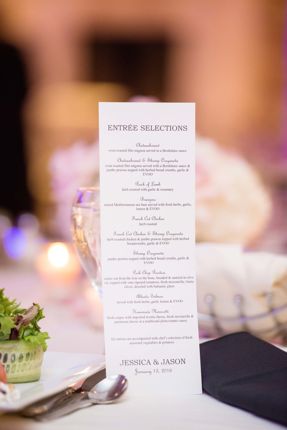 Watermill Caterers menu
