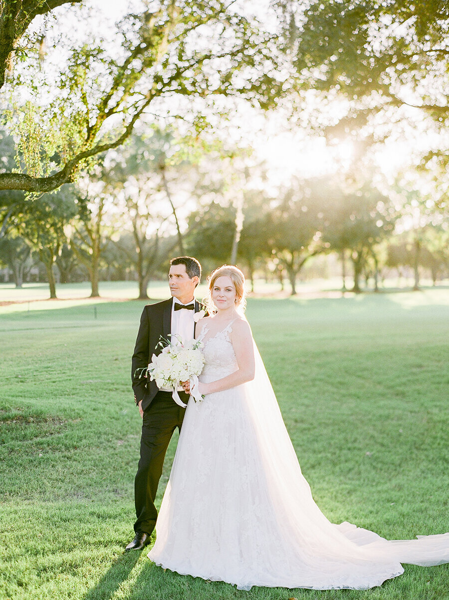 Bride & Groom portraits on the golf course