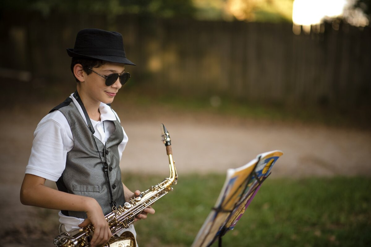Jazzy Saxopohne Player Stephanie C Perry Photography