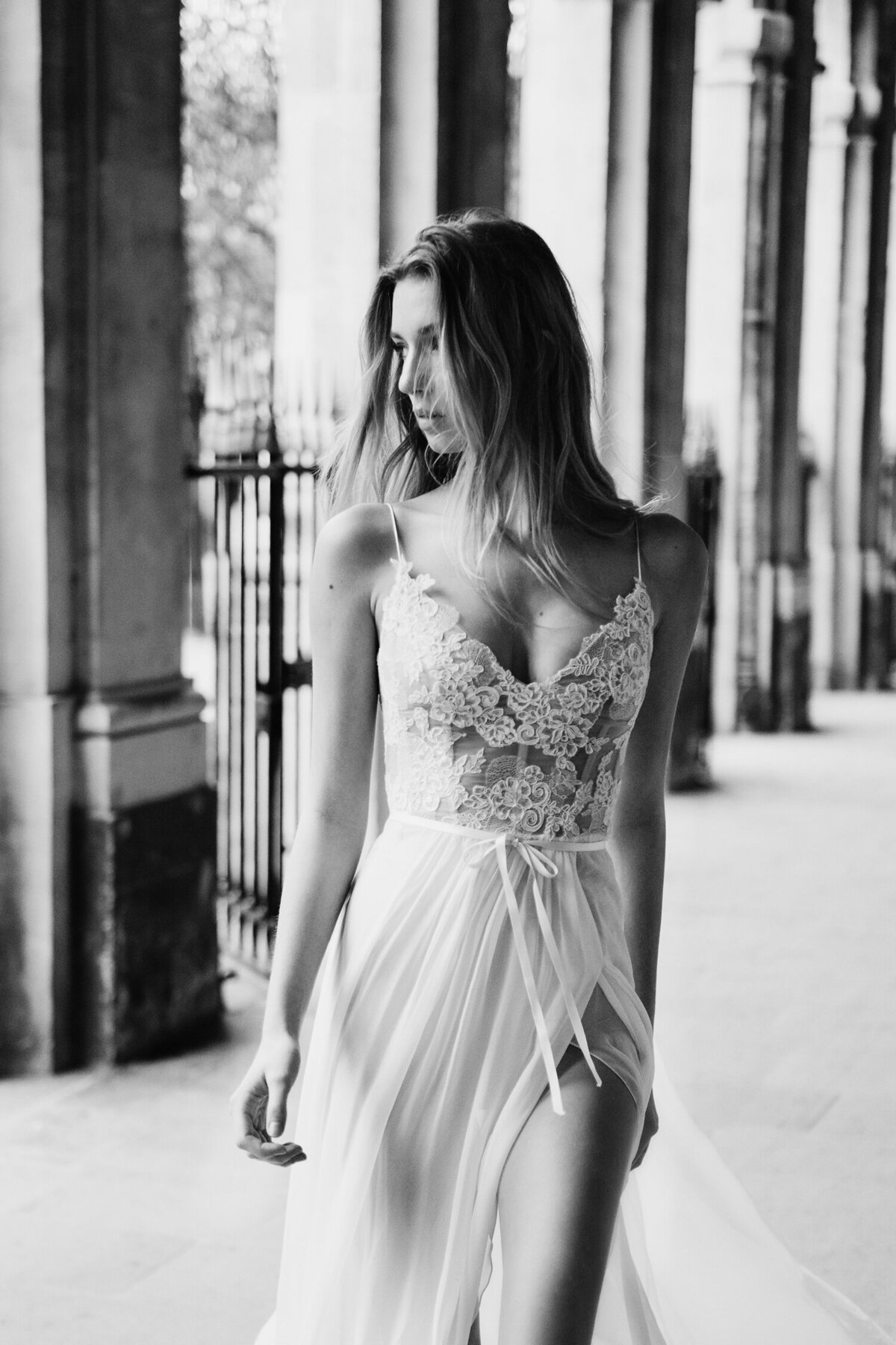Katie Mitchell, Monique Lhuillier Bridal Paris France Wedding Trine Juel Hair and makeup 20