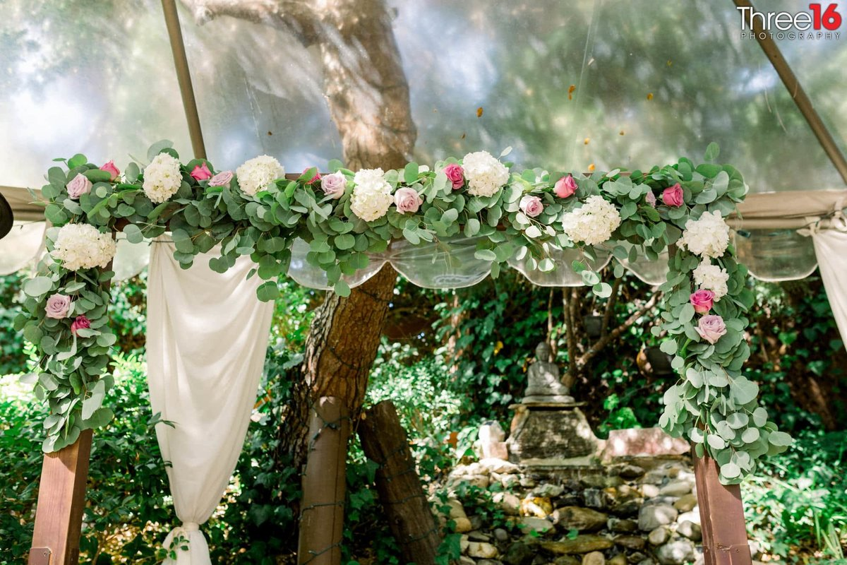 Wedding decor at the Inn of the Seventh Ray