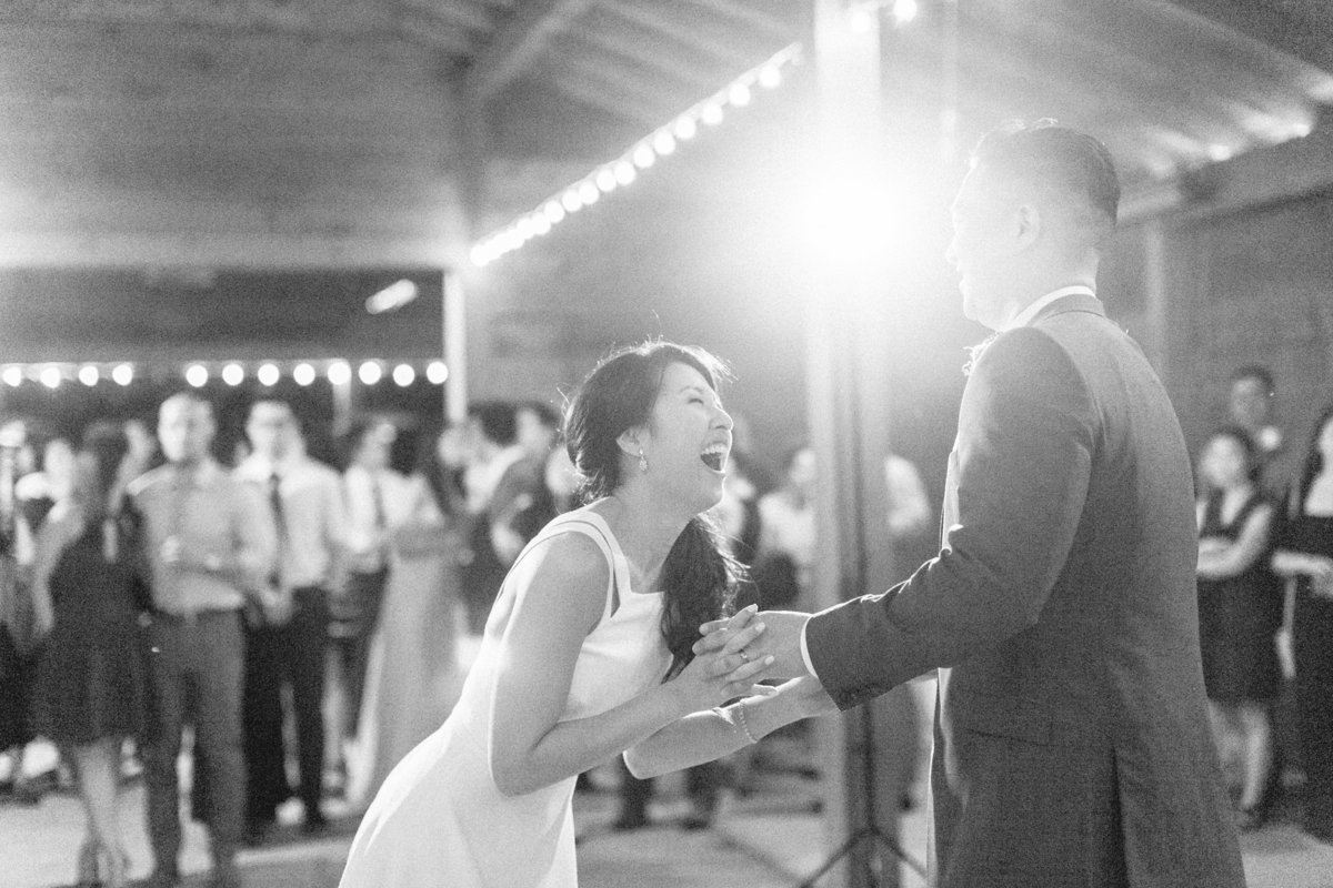 Candid Barn Wedding Photo