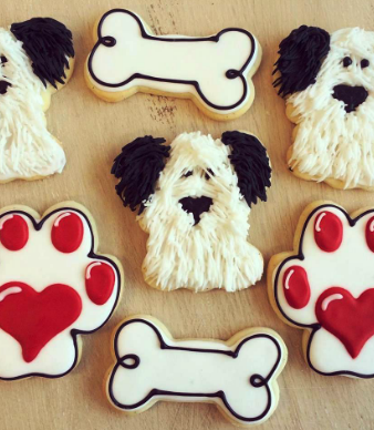 Whippt Desserts custom dog sugar cookies