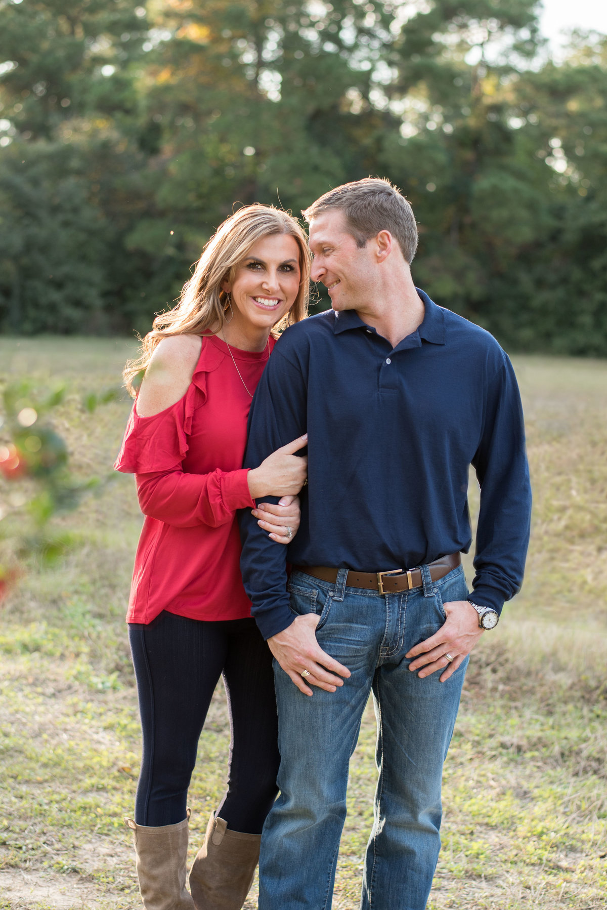 Couple fall session in Spring, TX