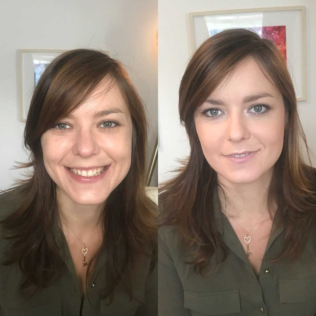 Before and After Makeup Natalie Setareh Private Lesson Makeup