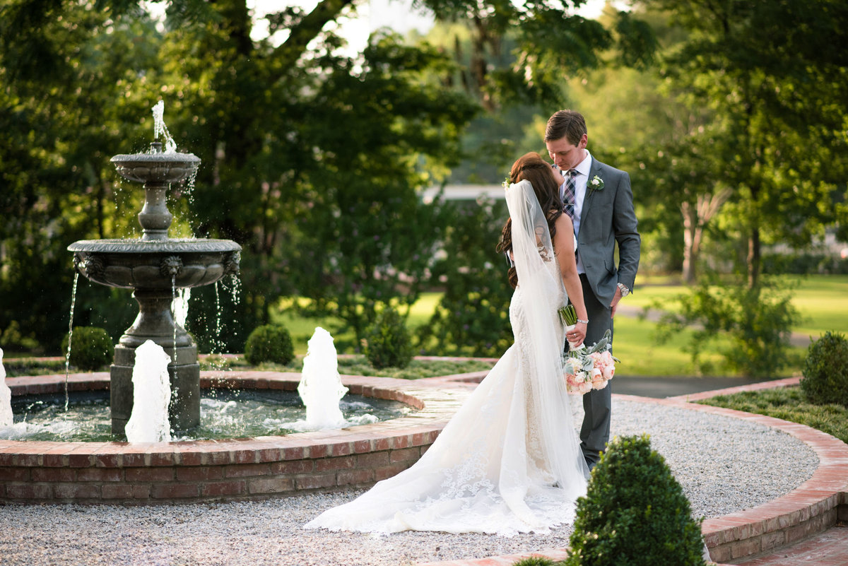 hunt phelan fountain wedding portrait