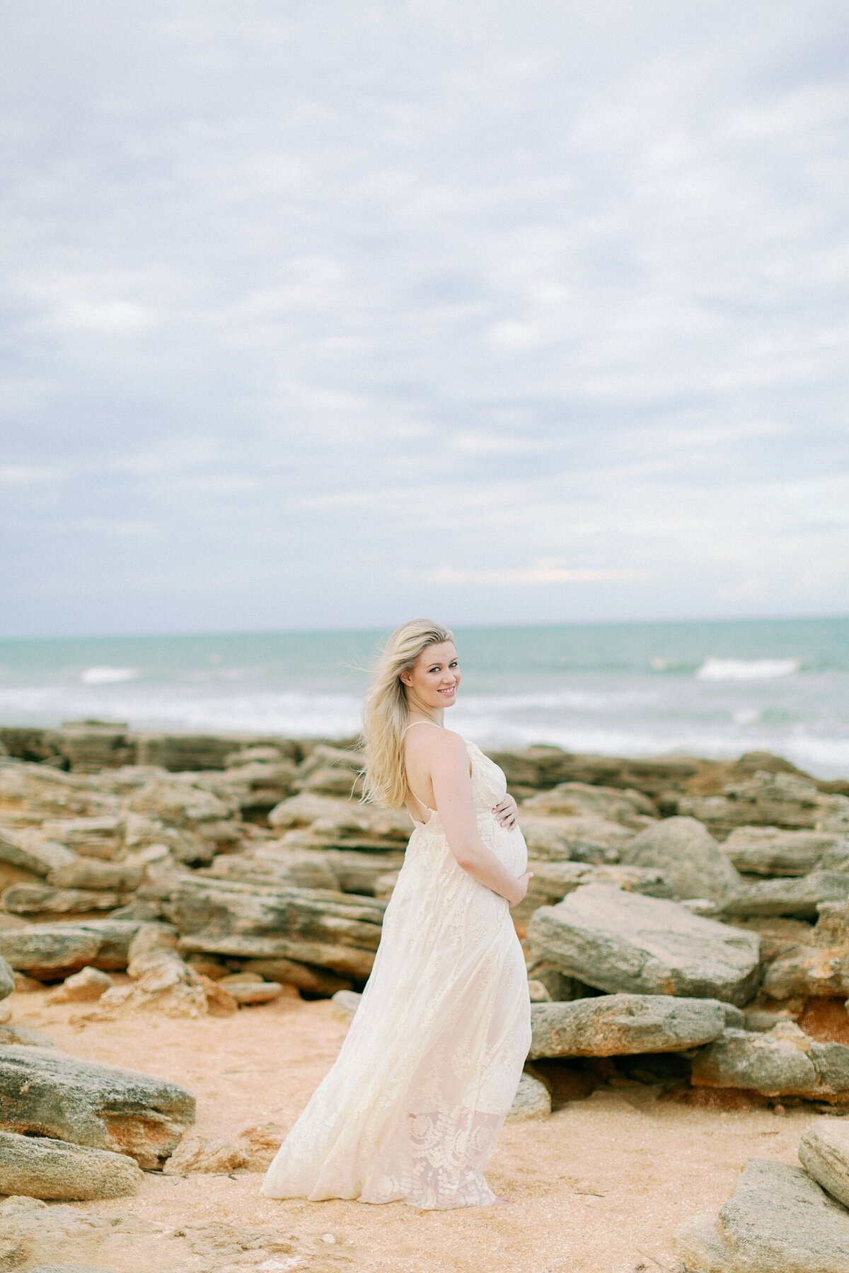 Ashley + Adrian Pamparau Washington Oaks State Park Maternity Session Photographer Casie Marie Photography-73