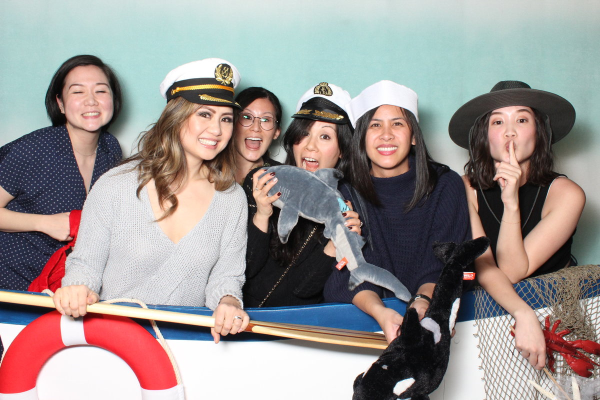 ocean party photo booth