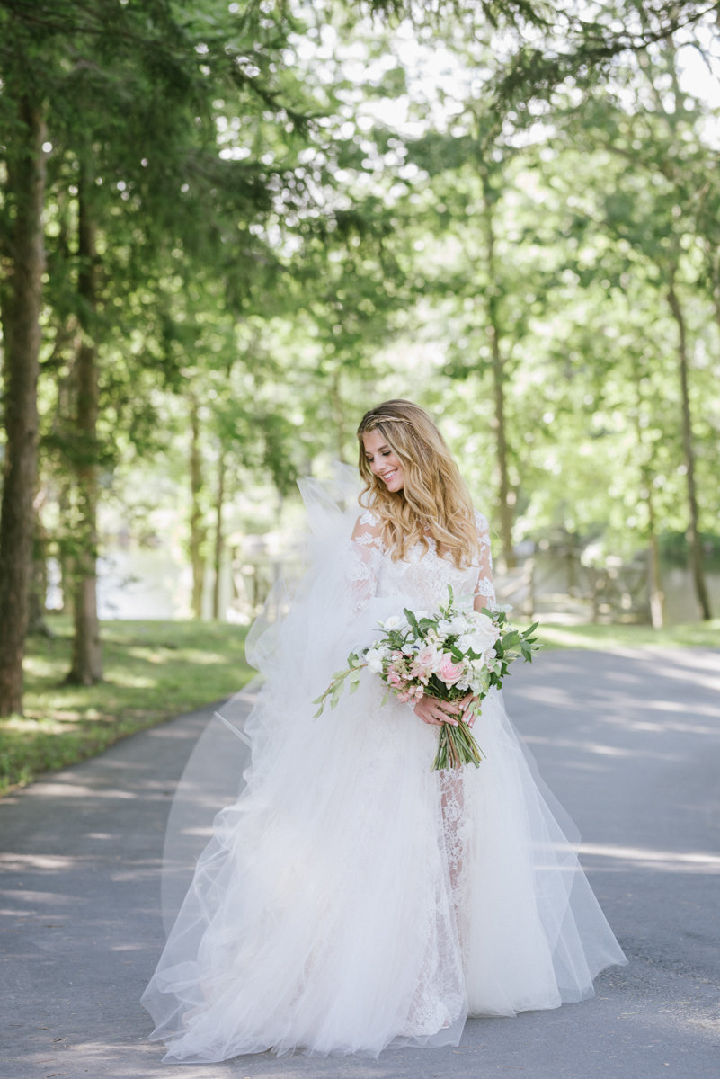 Custom wedding gown at Cedar Lakes Estates