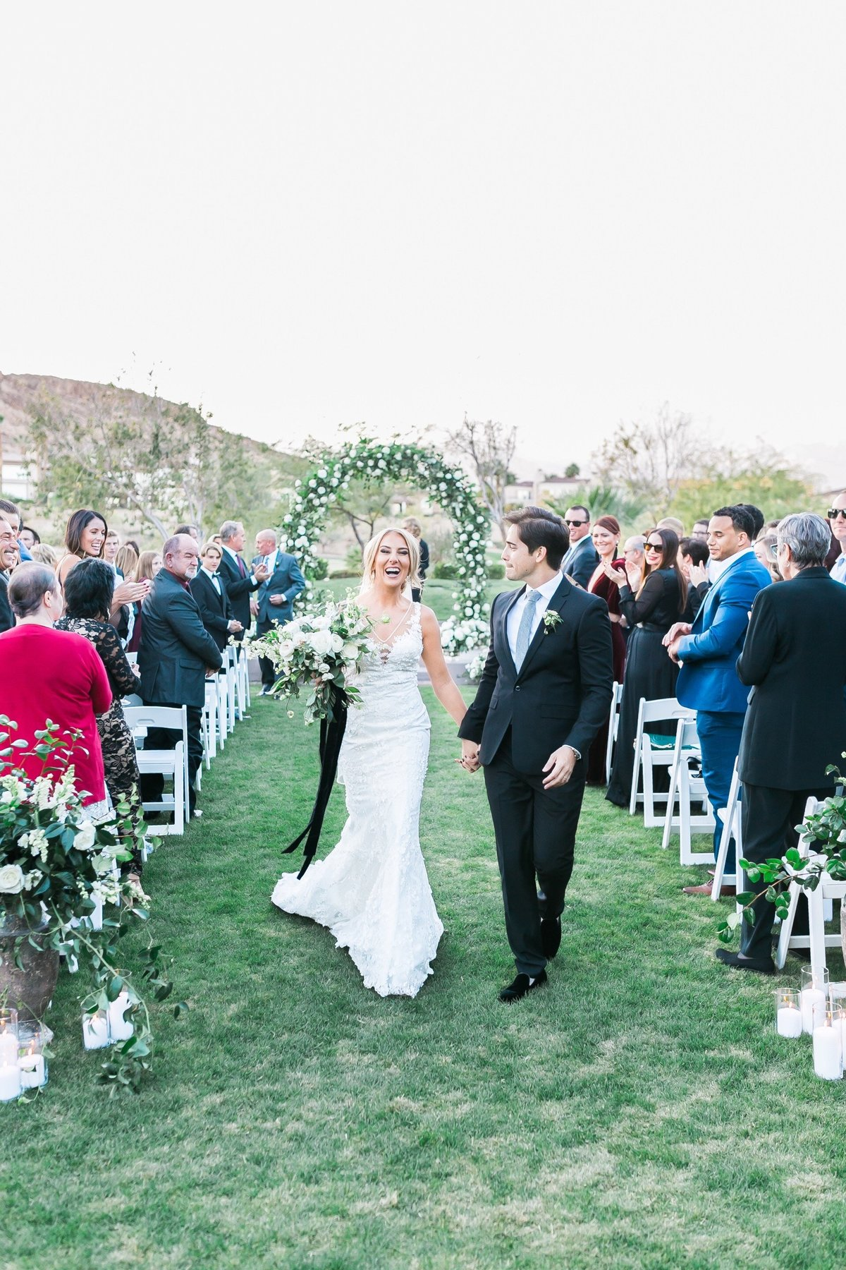 bride and groom photo after ceremony at Red Rock Country Club Las Vegas