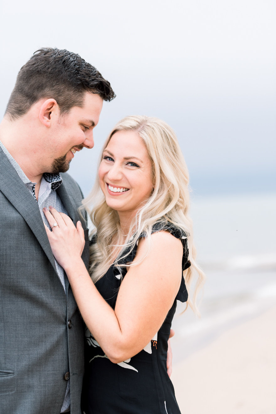 northern michigan beach engagement photographer